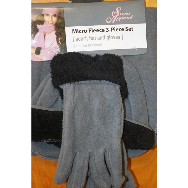 Fleece Hat, Glove and Scarf Set