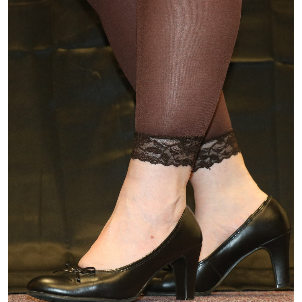 Lace Footless Tights