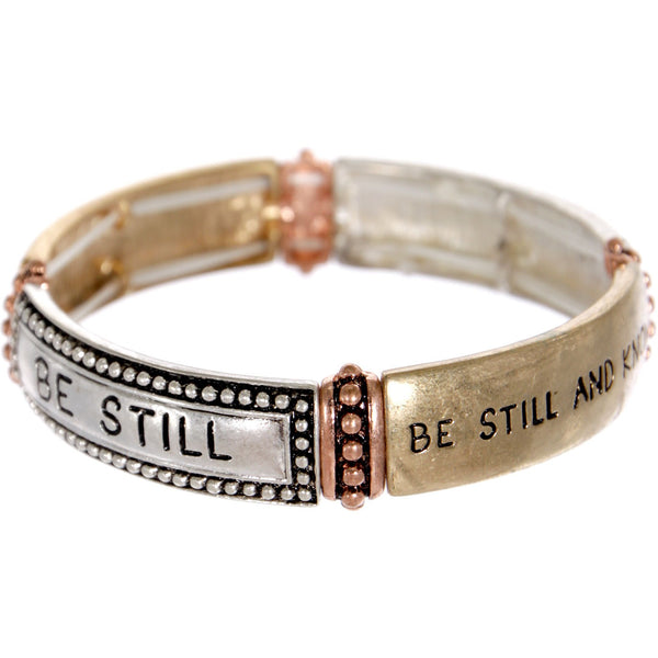 """Be Still"" Double Stretch Message Bracelet"