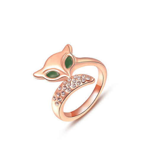 18K Gold Plated Cat Ring