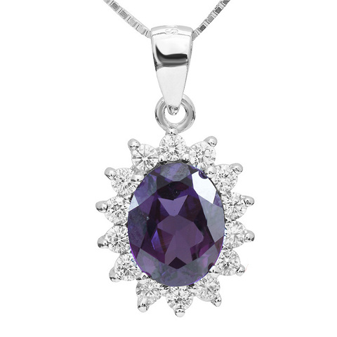 3 Carat Handcrafted Alexandrite Pendant with the Sterling Silver Chain