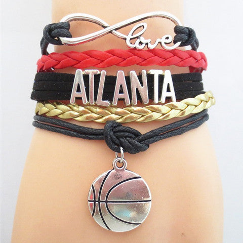 ATLANTA HAWKS Basketball Bracelet