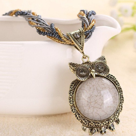 Bohemian Chic Owl Necklace