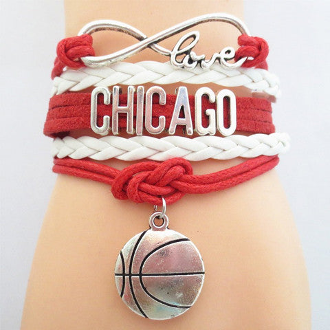 CHICAGO BULLS Basketball Bracelet