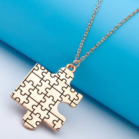 Autism Awareness Puzzle Pendant