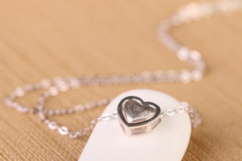 Double Heart Silver Chain Pendant