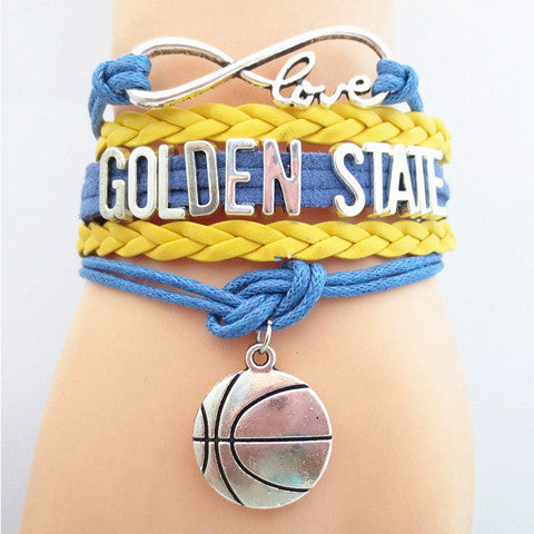 GOLDEN STATE WARRIORS Basketball Bracelet