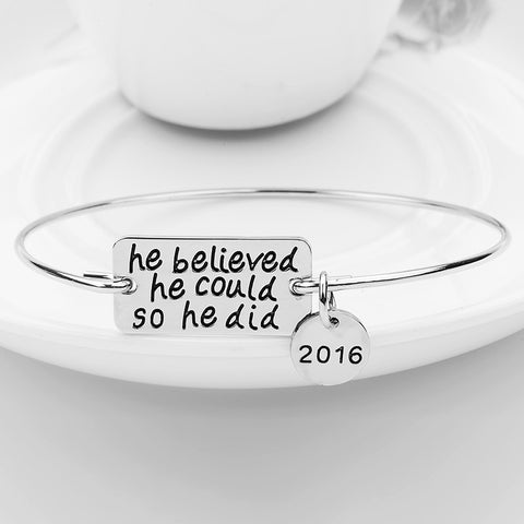 He Believed He Could So He Did Bangle