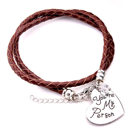 You Are My Person-Hand Stamped Bracelet