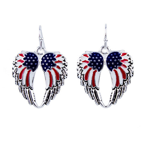 I Heart USA Angel Wing Earrings