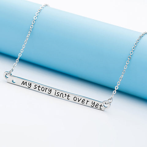 My Story isn't Over Yet Bar Necklace