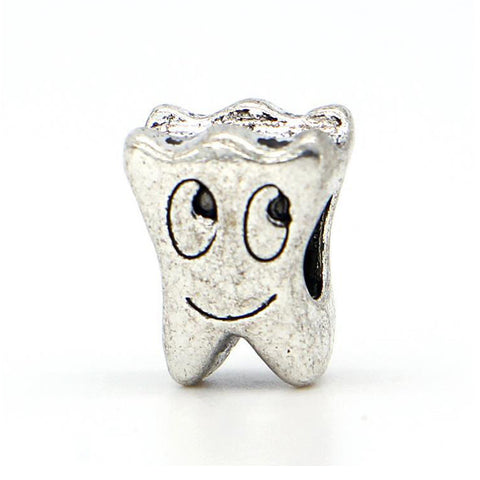 Smile face tooth bead