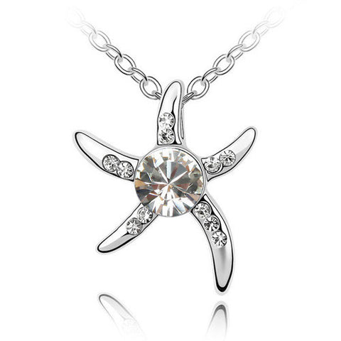 Star Fish With Crystal Heart