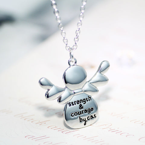 Strength Courage Cat Pendant Necklace