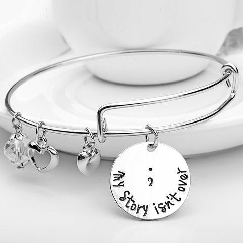 My Story Isn't Over Charms Bangle