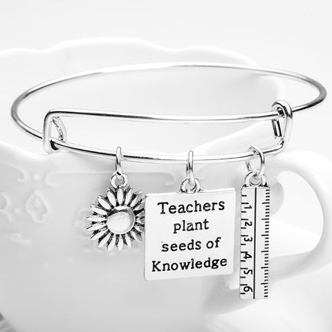 Teachers Plant Charms Bangle
