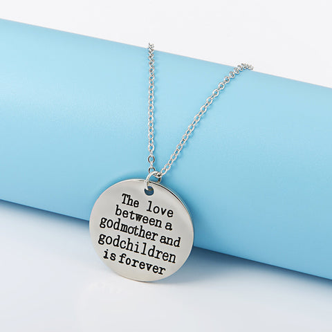 The Love Between a Godmother and Godchildren is Forever Necklace