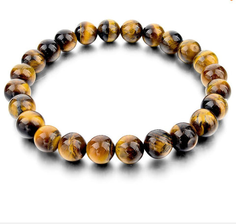 Tiger Eye Beads Elastic Bracelet