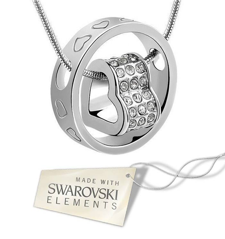 Swarovski Elements Eternal Heart Necklace
