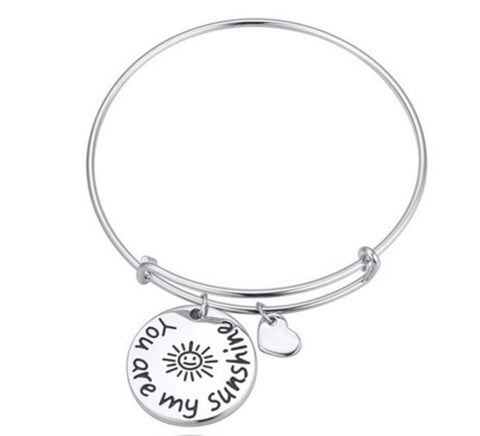 You Are My Sunshine Charms Bangle