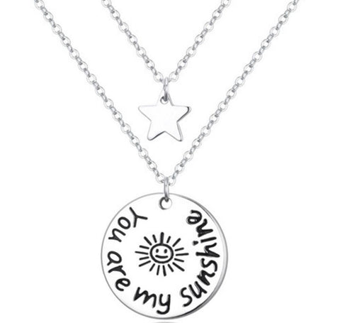 You Are My Sunshine Layers Necklace