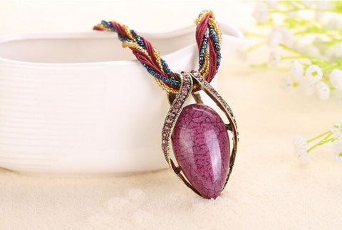 """Aurora"" Boho Chic Gemstone Necklace"