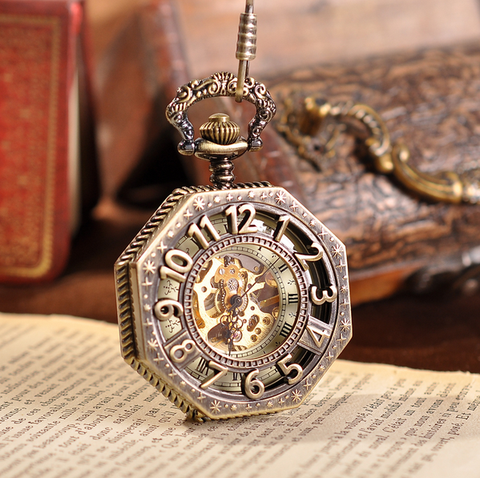 Golden Treasure Mechanical Pocket Watch