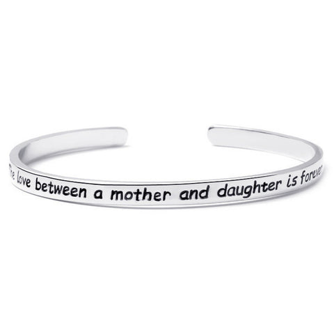 Mother And Daughter Engraved Bangle