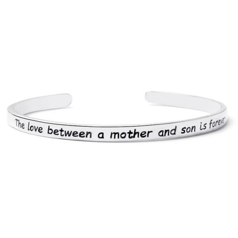 Mother and Son Engraved Bangle