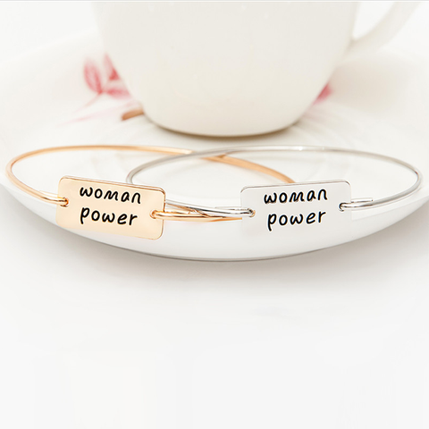 Woman Power Square Bangle