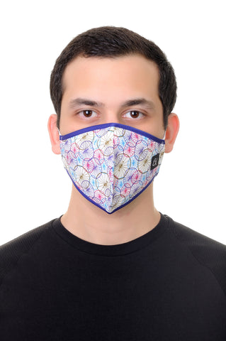 Face Mask Multi Cycles Print