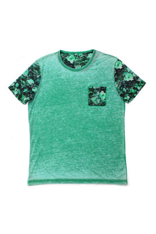 FADED GREEN T-SHIRT  #1018-1