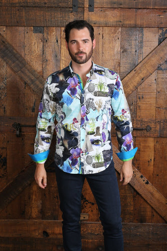 Natural Mystic Digital Print Shirt #M-10410