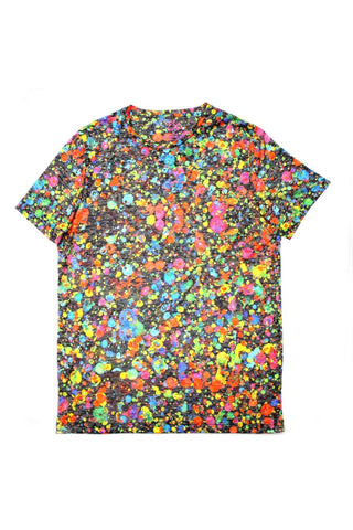 PAINT MULTI SPLASH PRINT T-SHIRT #1616