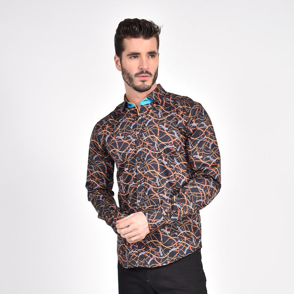 Chains and Straps Print Shirt