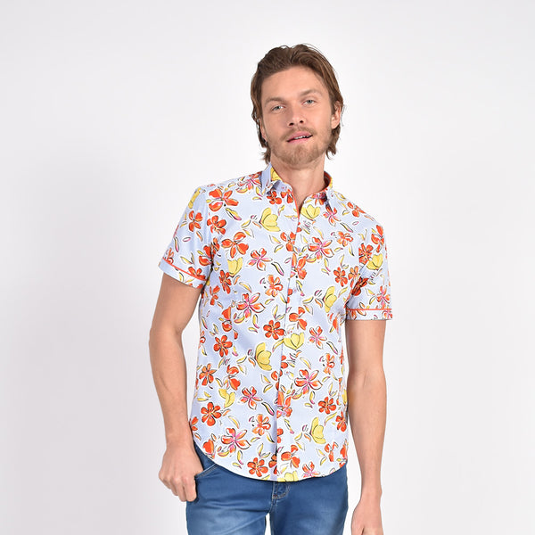 Daylily in the Sky Print Shirt