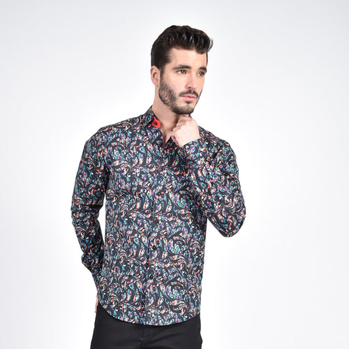 Prisma Color Paisley Print Shirt