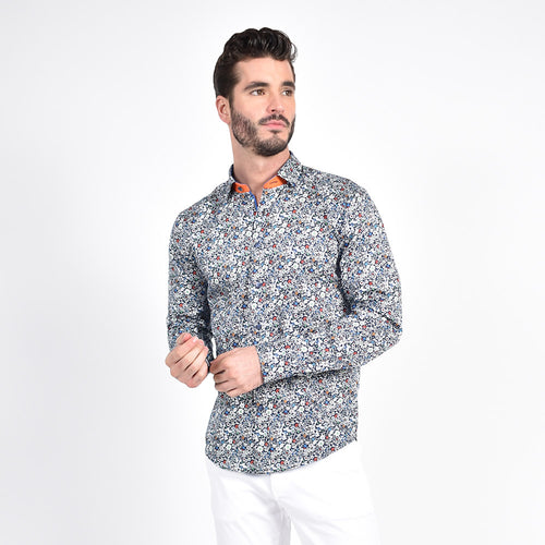 Minimalist Multi Color Bloom Print Shirt