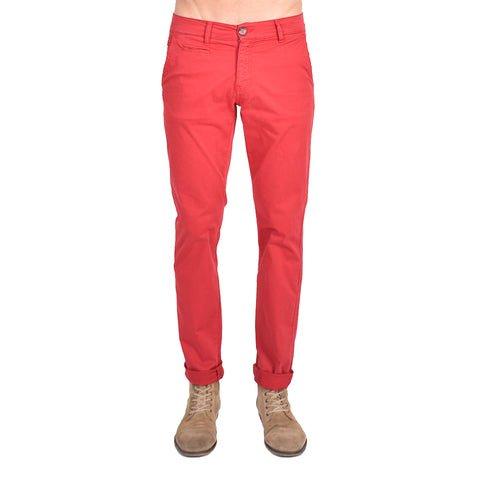 Red Slim Fit Chino Pants