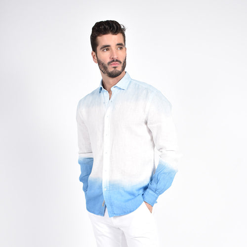 Blue Ombre` Shirt