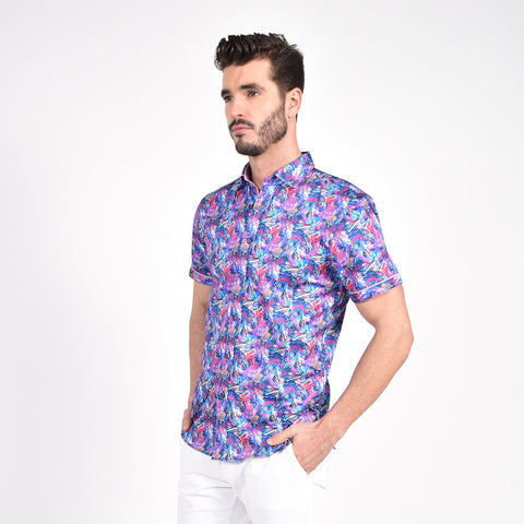 Flashback Multi-Color Print Shirt