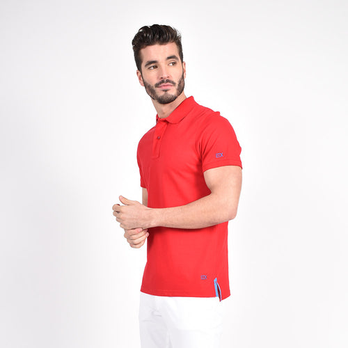 Red Polo with Blue EX Logo