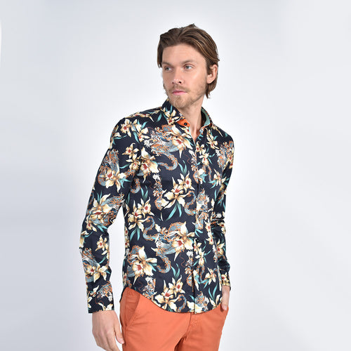 Iris and Dragon Print Shirt