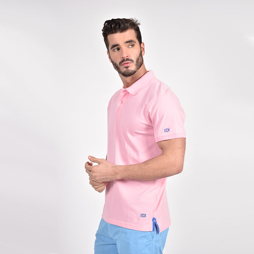 Pink Polo with Blue EX Logo