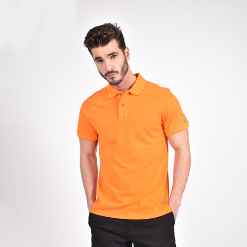 OrangePolo with Blue EX Logo