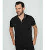 Black Polo With Colorful Trim #T-6015