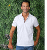 White Polo With Colorful Trim #T-6015