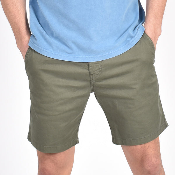 Olive Slim Fit Chino Shorts