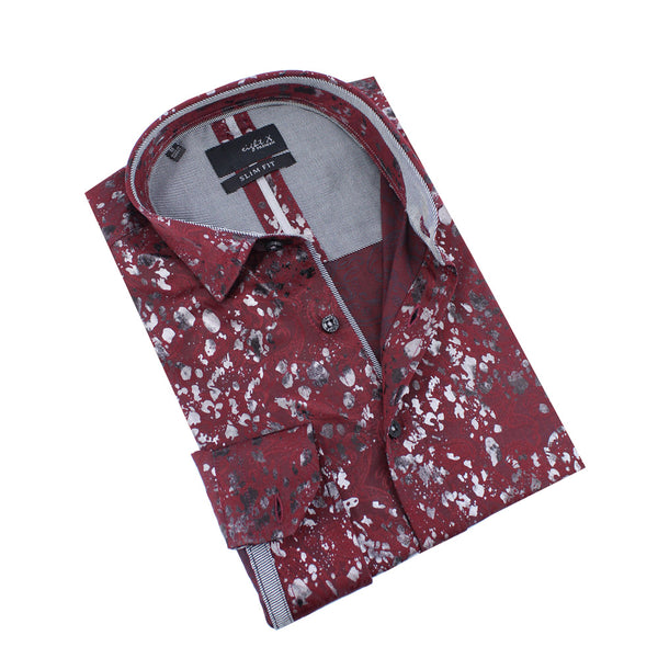 Paisley and Foil Jacquard Shirt