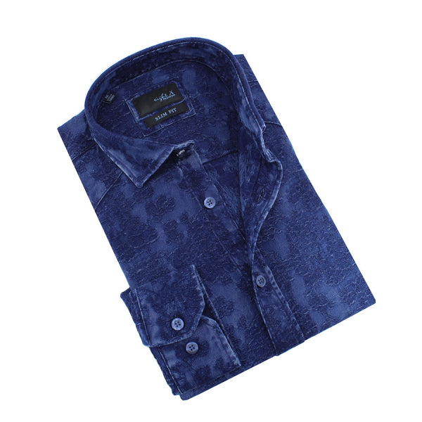 Denim Floral Jacquard Shirt